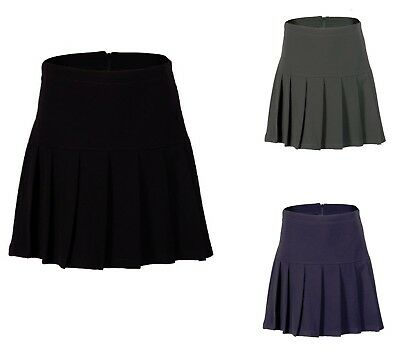 Girls Ladies Kids Pleated School Skirt Drop Waist Uniform Size 8-20, Ages 2-16