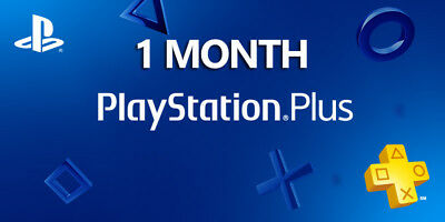 1 Month PlayStation PS Plus PS4-PS3 -Vita (2)14 Days Membership  ( NO CODE )