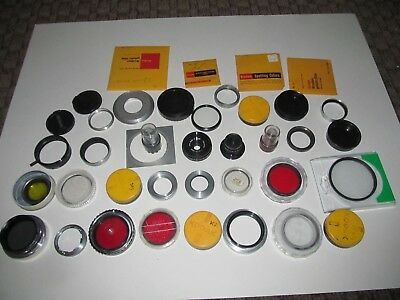 Lot of different lenses filters extenders and other Kodak and more