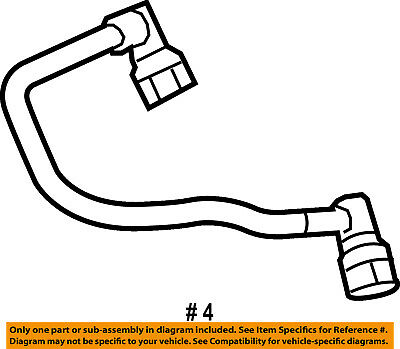 Ford 4c3z6a664aa Genuine Oem Vent Hose