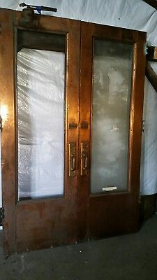 antique copper double entry doors