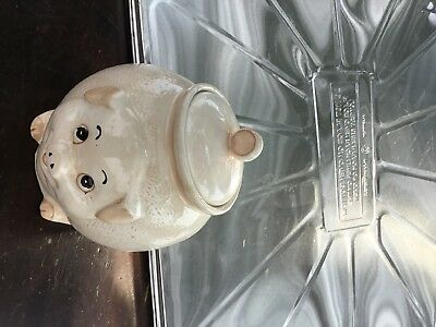 Ceramic Pig Bacon Grease Drippings Container With Lid