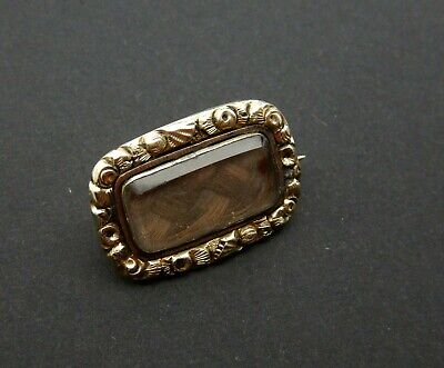 Antique 9Ct Gold Georgian Mourning Brooch , Pin