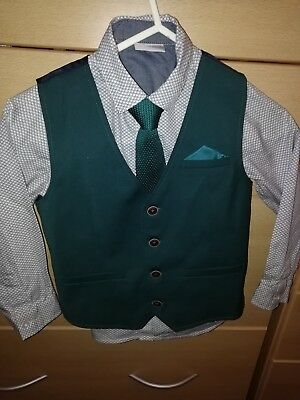 Next Boys 3/4 years old Smart Wedding Occasion Shirt Waistcoat Tie