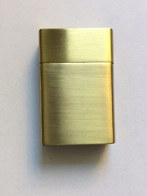 """New! Pretty Brushed Golden Lighter With Initials """"aa"""" From Black And Mild Promo"""