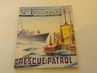 Commando War Comic Number 1597!,1982 Issue,v Good For Age,36 Years Old,very Rare
