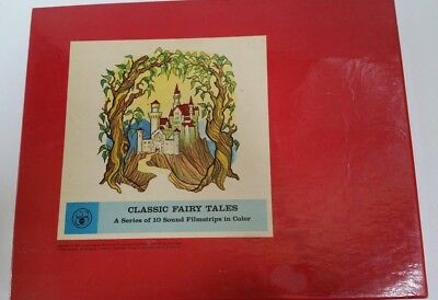 Encyclopedia Britannica Classic Fairy Tales 10 Sound Filmstrips in Color 1965
