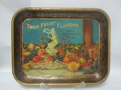 Vintage True Fruit Flavor - J Hungerford Smith Co. Advertising Ice Cream Tray