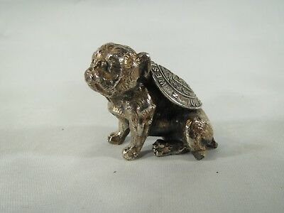 Vintage solid metal bulldog figure with West Point Military Academy plaque