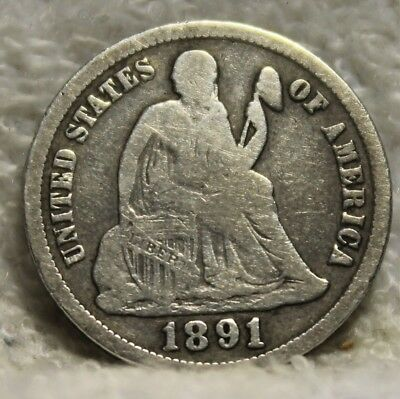 1891S seated dime