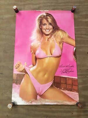 "Vintage 1982 Starmakers #2129 Heather Thomas Pin Up Girl Poster (21"" x 32"")"