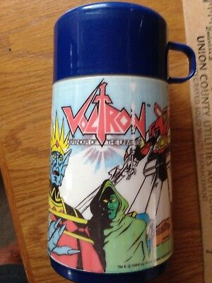 Aladdin Plas Thermos Bottle VOLTRON Defender of the Universe @1984, functional,