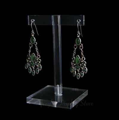 Acrylic Clear Earring Display T-Bar Stand 3.25""