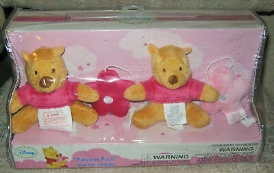 DISNEY WINNIE THE POOH Precious Pooh Nursery Musical Crib Mobile Brahms Lullaby