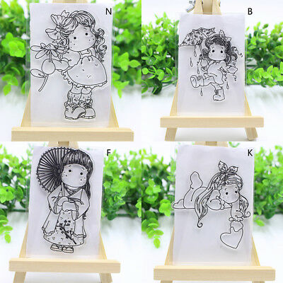 Silicone Clear Stamp Cling Seal Transparent Album Decor Scrapbook Embossing DIY