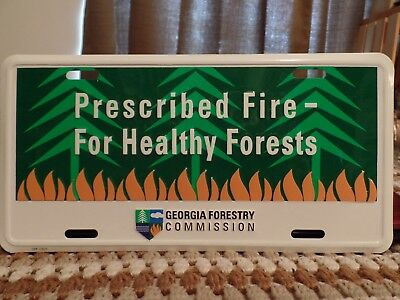 Georgia State License plate. Forestry Commossion. Collectible Tag, Aluminuim