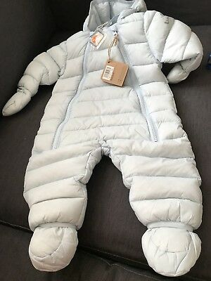 Timberland Baby Boys Down Snowsuit Pale Blue BNWT 3-6 Months