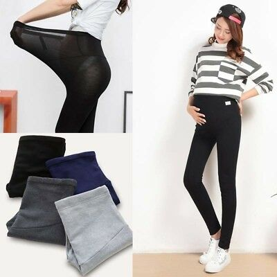 Thick Comfortable Maternity Leggings Cotton Trousers Full Ankle Pregnancy Pants