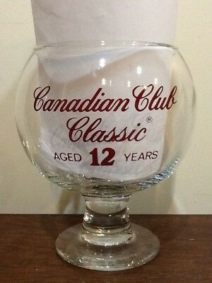 Large Canadian Club Classic Drinking Glass Goblet 48Oz.