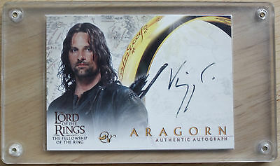 Rare Viggo Mortensen Aragorn Lord Of The Rings Autographed Trading Card