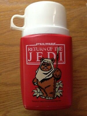 Plastic Thermos bottle RETURN OF THE JEDI @1983 Nice