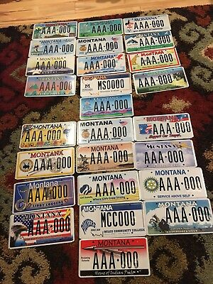 Lot  Of 27 Montana Sample  License  Plates   (Aq)