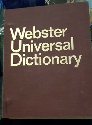 VINTAGE c1968 WEBSTER UNIVERSAL DICTIONARY - INTERNATIONAL EDITION - RARE