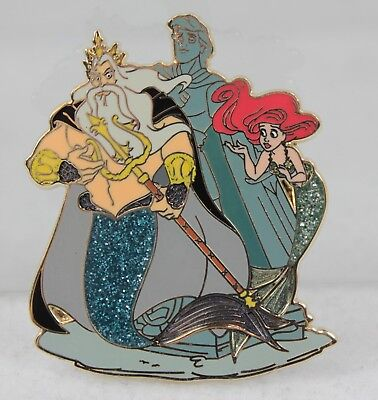 Disney Store D23 Limited Edition Designer Pin LE 1000 Ariel King Triton Mermaid