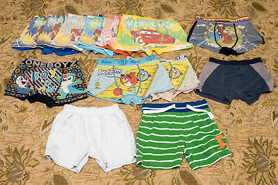 Lot of 13 Kids Boy's underwear boxer briefs panties Size 5