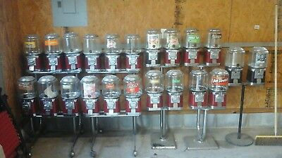 Over 100 bulk candy machines - Beaver, Eagle, and others.