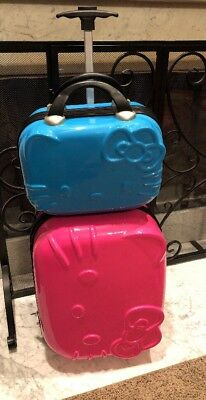"""Hello Kitty 16"""" Rolling Carry-On And 12"""" Train Case"""
