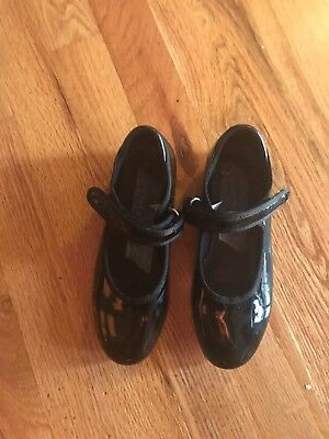 Girl Tap Shoes Black Size 12