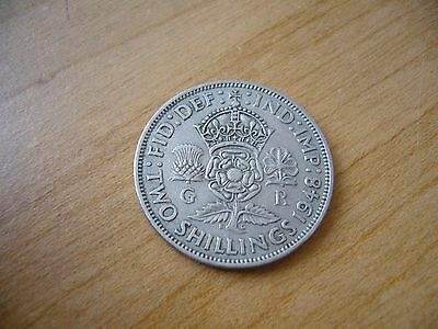 1948 Great Britain 2 Two Shillings Coin