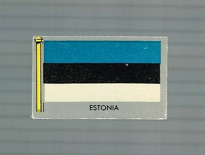 "1950 Topps Vintage ""flags Of The World"" Card #9 Estonia"