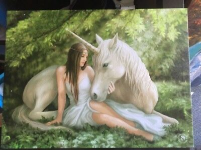 Anne Stokes Gothic & Fantasy Collection Unicorn Canvas Print