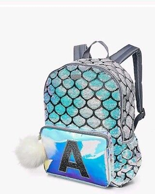Justice Mermaid Bookbag Lunchbox Letter A