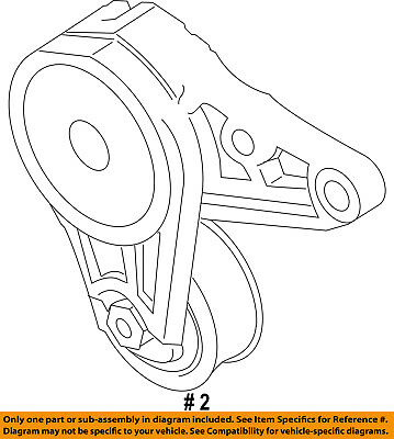 ford oem 13-16 escape-serpentine drive fan belt tensioner ds7z6a228b