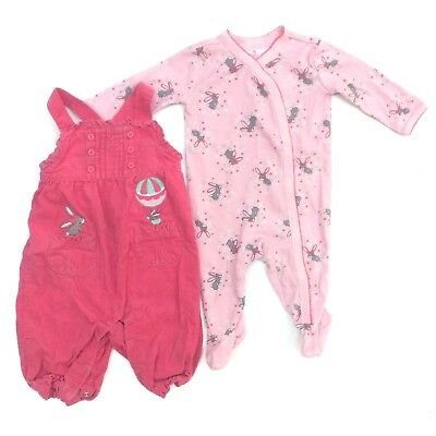 GYMBOREE Baby Girls 3-6 months Hot Air Balloon Bunny One-Piece LOT