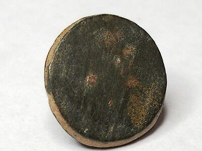 Dug Spanish Colonial America-type military uniform button from Virginia Rev. War