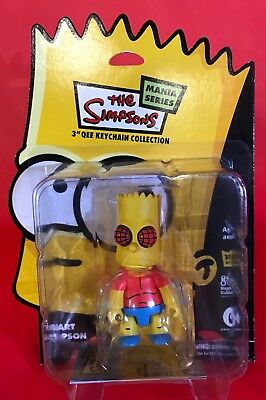 2 BART SIMPSON Qee Keychains - THE FLY and DAREDEVIL BART - Simpson Mania Series