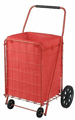 Extra Large Folding Shopping Utility Cart 110Lbs Capacity Steel Oversize Grocery