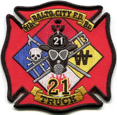 Maryland - Baltimore City FD Truck 21 current style Hazmat patch
