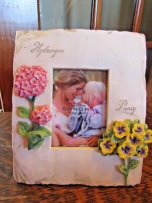 New, Sonoma, Spring Summer Picture Frame, Hydrangea, Pansy flowers