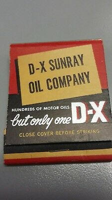D-X Sunray Oil Company Matchbook (unstruck)