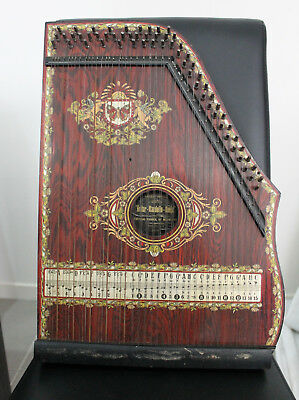 Antique Vintage Zither Austral School of Music Art Deco 1920- 1930