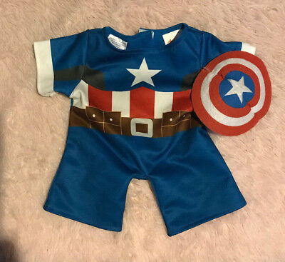 Build A Bear BAB Outfit Costume Captain America LIKE NEW