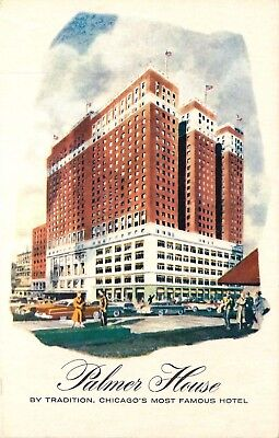 Chicago, IL, Palmer House, A Hilton Hotel, Unused Vintage Postcard d5182