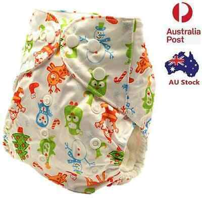 Washable Reusable Baby Cloth Diapers Pocket Nappy FREE Liner For Christmas D226