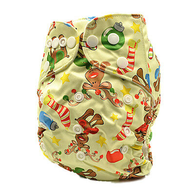 Washable Reusable Baby Cloth Diapers Pocket Nappy FREE Liner For Christmas D228