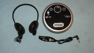 Insignia NS-P5113 FM tuner/CD/MP3/ player, w/ headphones & wired remote